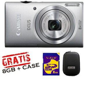 Promo Kamera dan Aksesoris Rakuten - canon ixus 145 promo mura 8gb + bag (silver)