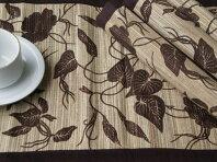 Enceng Gondok Leaf Print-Place Mats (4pcs) & Table Runner (1pcs)