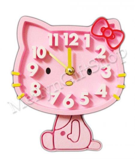 Jam Dinding + Gantungan Hello Kitty [jmb35] - Meilyn Gift Shop