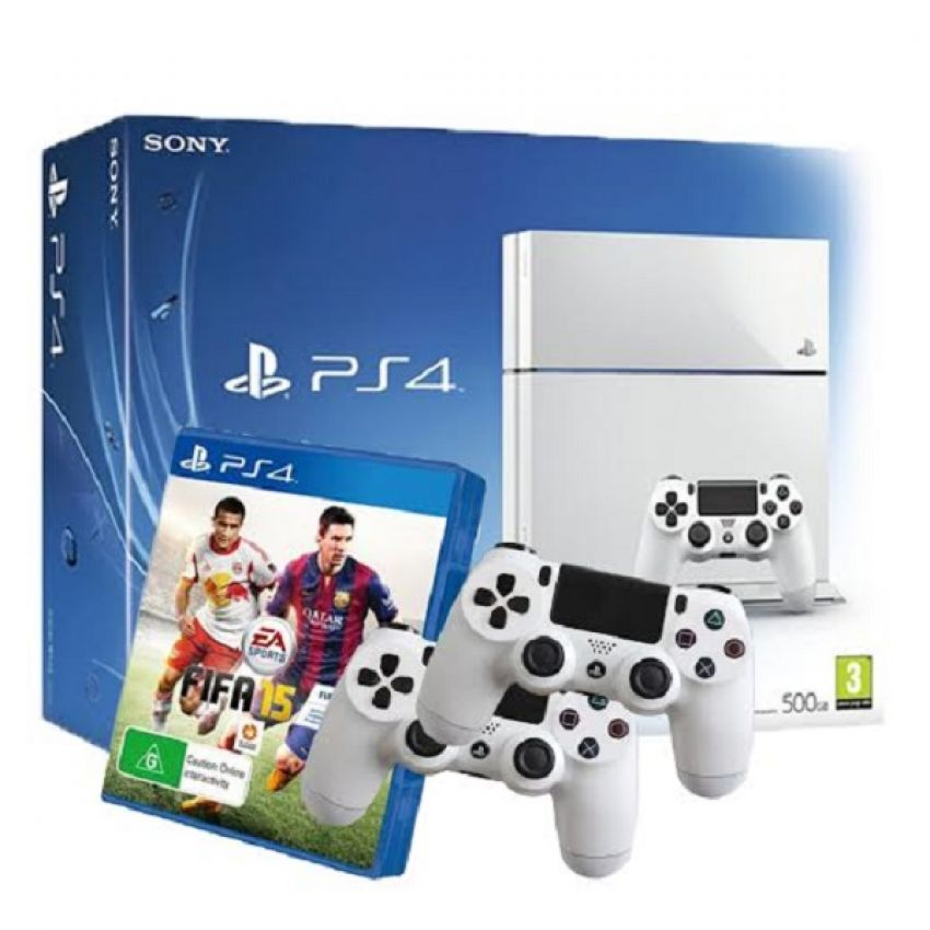 Ps4 White Controller Ps4 White Fifa15 Bundle 2