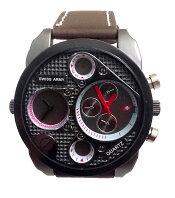 Jam Tangan Swiss Army Dual Time BA 405 L Body + Bezel Hitam