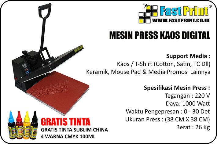 Mesin Press Kaos Digital Ukuran 38 Cm X 38 Cm - Fast Print