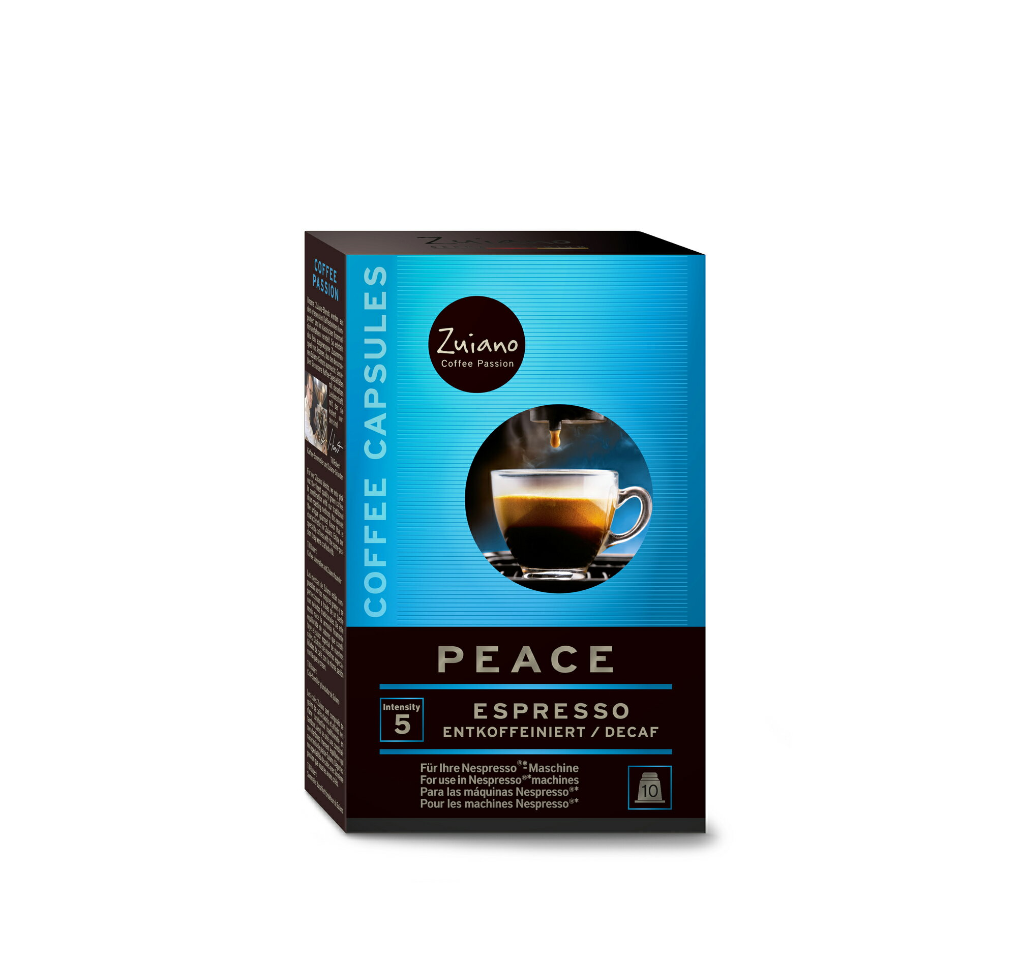 Zuiano Coffee  Rakuten Peace Blend Capsule  -> Nespresso Decaf