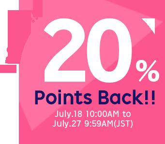 20% Points Backs!