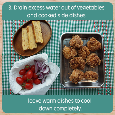 Drain excess water out of vegetables