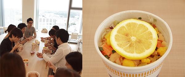 editors tasting noodles