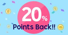 20% Point Back!