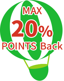 max 20% points back