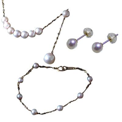 Akoya珍珠首飾套裝