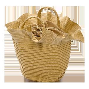 Raffle Frill Basket Bag