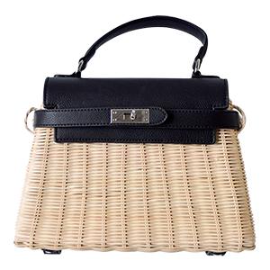 Birkin Type Leather Basket Bag