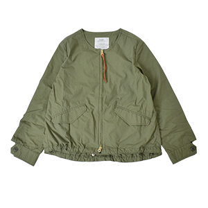 No-collar Cotton Military Jacket