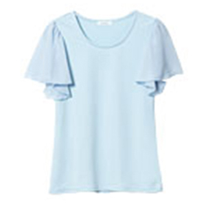 Chiffon Flare Sleeve T-shirt