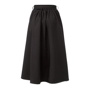 Waist Ribbon Knee-length Flare Skirt