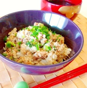 青花鱼紫苏叶什锦饭