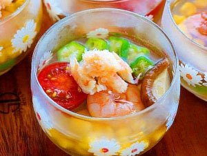 Jellied Summer Vegetables and Shrimp