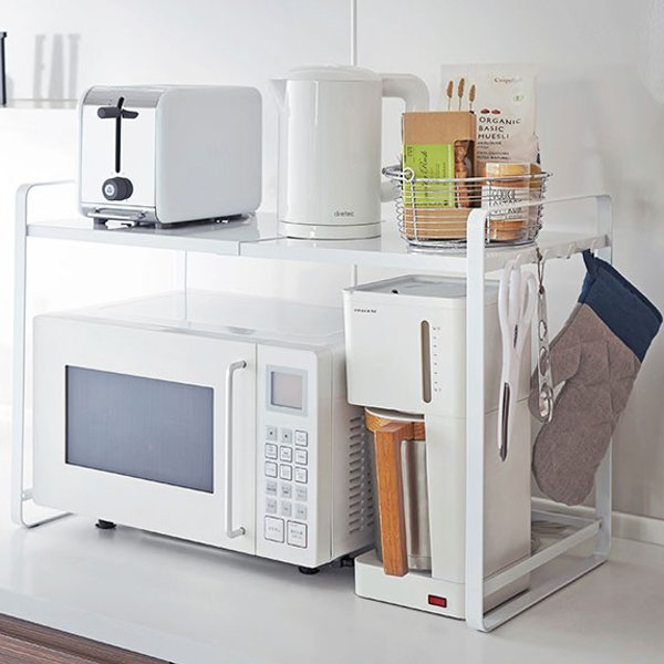 Rack above the microwave oven