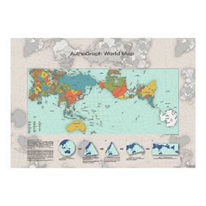 AuthaGraph World Map poster