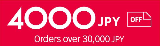 2500JPY of orders over 30,000 JPY