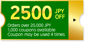 2500 JPY OFF Coupon