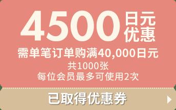 4500 日元 优惠