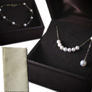 Japanese Akoya Pearl Necklace & Bracelet Set