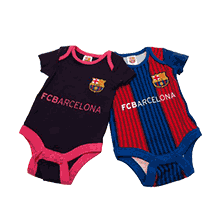 FC Barcelona Official 16-17 Rompers 2 Piece Set VS (Striped / Dark Purple)