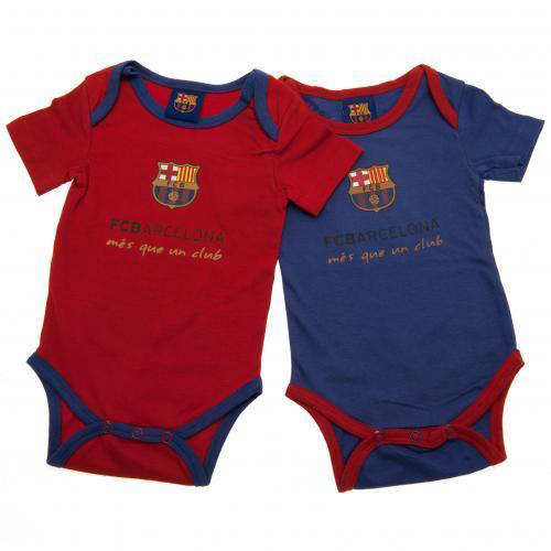 FC Barcelona official rompers two pieces set (Marron / blue)
