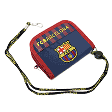 FC Barcelona Official Round Wallets (Navy)