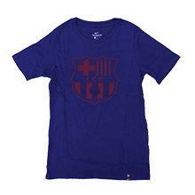 FC Barcelona 17-18 Crest T-Shirts Junior (Blue)