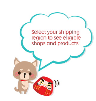 Select your shipping region to see eligible shops and products!