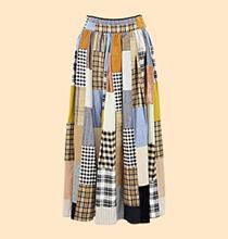 Franche lippee Long patchwork skirt