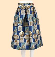 franche lippee tapestry jacquard skirt