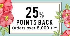 Spring Fair 25% Points Back