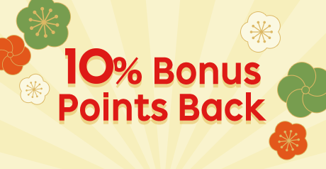 10% Bonus Points Back