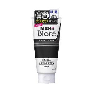 Men's Biore Scrub Facial Wash