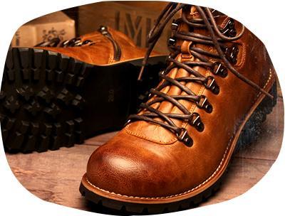 H2VOLT复古 侧边拉链 登山靴