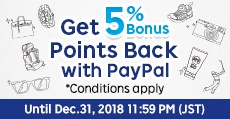 Get 5% Bonus Points Back with PayPal