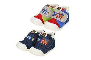 MIKIHOUSE 小熊列车长主题刺绣彩虹款学步鞋 ~16cm