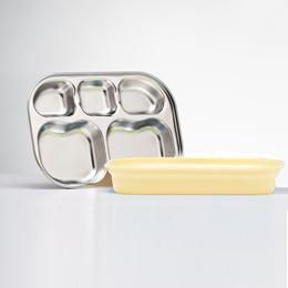Kangovou小袋鼠不鏽鋼安全分隔餐盤