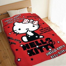 Hello Kitty刷毛毯