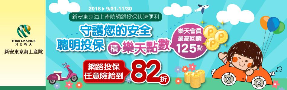 樂集點推薦:【樂天市場 X 新安東京海上】省錢省時又轉點 線上買車險 簡單又方便