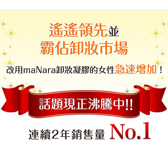 maNara卸妝乳 遙遙領先並霸佔卸妝市場,改用maNara卸妝乳的女性急速增加!