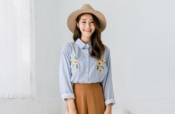 刺繡女襯衫