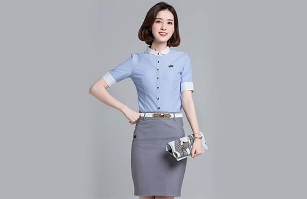 襯衫領經典女襯衫