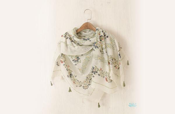絲質圍巾披肩