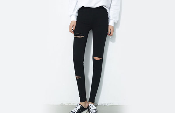 超顯瘦緊身褲