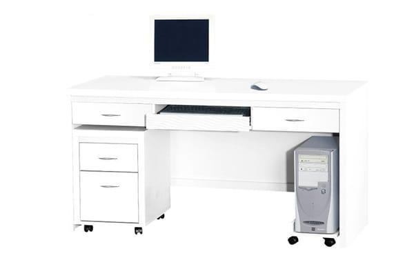 附小滾輪的電腦桌