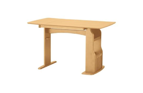 附設雜誌架的餐桌