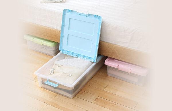 床底滑輪整理箱